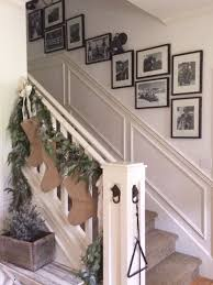 Banister Decor Little Farmstead Christmas Stairway And Gallery Wall
