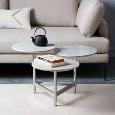 west elm marble table tiered circles coffee table marble polished nickel furniture