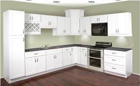 modern kitchen with wooden white painted thermofoil cabinet door