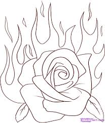 how to draw a flaming rose step by step tattoos pop culture