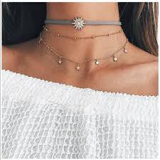 cute choker necklace images Urban outfitters jewelry cute layered choker necklace 2 pcs set jpg