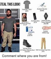 Cargo Pants Meme - steal this look anabolic steroids givenchy t shirt 2500 599