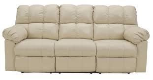 Marlo Furniture Liquidation Center by Signature Design By Ashley Kennard Cream Reclining Sofa With