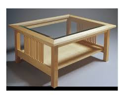 Glass Top Table Glass Top Table Solid Hard Maple Construction Coffee Tables