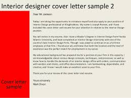Sample Resume Of Interior Designer by Interior Designer Cover Letter