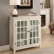 linon home decor largo antique white storage cabinet 650200wht01u