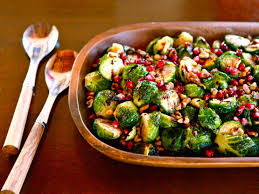 roasted brussels sprouts with walnuts pomegranate molasses