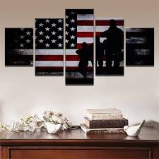 american flag home decor canvas home decor framework wall art pictures 5 pieces american flag