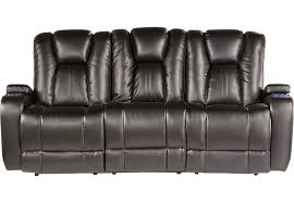 Leather Electric Recliner Sofa Black Leather Electric Recliner Sofa Nrhcares