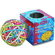amazon com acco 72155 rubber band ball approximately 275 rubber