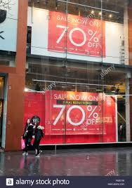 shop displays a sale promotion in lord liverpool during the