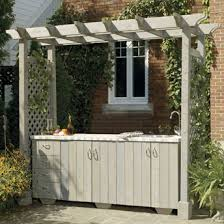 build an outdoor kitchen island with pergola construction plans