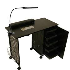 vented manicure nail table station led dryer wall mount rack salon