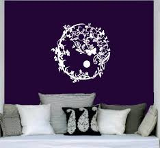 online get cheap wall murals yoga aliexpress com alibaba group creative designed flower pattern yoga wall stickers tribal circle art flower wall murals for home livingroom