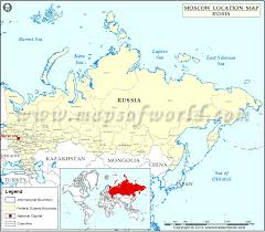 moscow map world where is moscow location of moscow in russia map