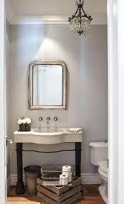 Modern Powder Room - chandeliers powder room vanity lighting swirl powder room design