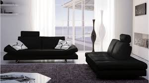 bentley black top grain leather modern sofa set with loveseat