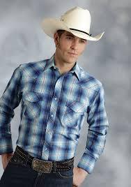 roper mens bright turquoise plaid long sleeve pearl snap cowboy shirt