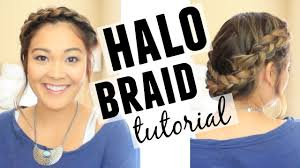 medium length hairstyle tutorials halo braid hair tutorial shoulder length hair youtube