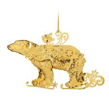 Polar Bear Christmas Ornaments by The 2015 Gold Christmas Ornament Collection The Danbury Mint