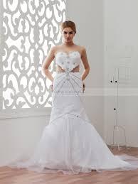 mermaid wedding strapless satin mermaid wedding dress with heart shaped embellishment