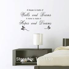 vinyl wall quote decals letters words a house is made of wood and