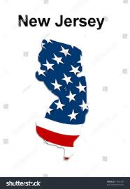 New Jersey State Flag Colors Map State New Jersey American Flag Stock Illustration 11950102