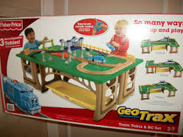 fisher price train table fisher price geotrax train table and rc set vehicle playsets