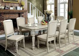 furniture of america cm3600t antique white dining set
