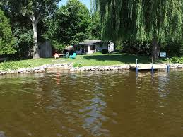 relax in this updated lakefront house pontoon also available to