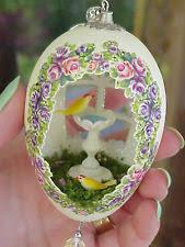 decorated goose eggs carved egg ebay
