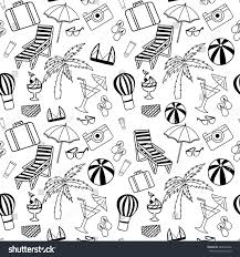 hand drawn artistic travel seamless pattern stock vector 364026242