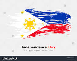 Flag Philippines Picture Flag Philippines Flag Grungy Style Independence Stock Vector