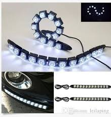 best led daytime running lights 2x universial 12led drl flexible daytime running light driving