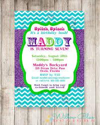 Backyard Birthday Party Invitations by Splish Splash Bash Invitation Splish Splash Birthday Pool Party