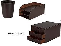 trieur papier bureau bureau en simili cuir accessoires trieur papier comprend 3 tiroirs