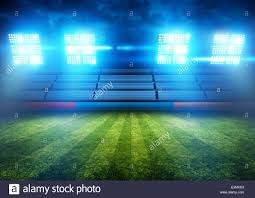 Arena Lights Football Stadium Lights Background Illustration Stock Photo