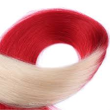 Red Tape Hair Extensions by Addcolo 10a Tape In Hair Extensions Brazilian Hair Silky Straight