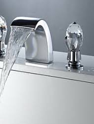 Lightinthebox Faucet Reviews Two Handles Widespread Waterfall Bathroom Sink Faucet