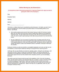 3 warning letter to employees park attendant