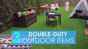 Backyard Items 3 Double Duty Outdoor Items Video Hgtv