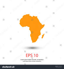 Map If Africa by Map Africa Icon Stock Vector 553878868 Shutterstock