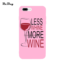 less whine more wine for iphone case 7 7plus simple printed