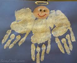 Kids Handprint Crafts Diy Angel Handprint Craft For Kids Crafty Morning