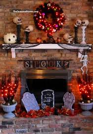 Scary Halloween Decorations For Inside by Best 25 Halloween Fireplace Ideas On Pinterest Classy Halloween