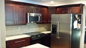 Eco Kitchen Design by Furniture Brown Kitchen Cabinets With Cenwood Appliance For