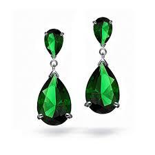 emerald green earrings 2017 teardrop dangle earrings for woman may birtth emerald