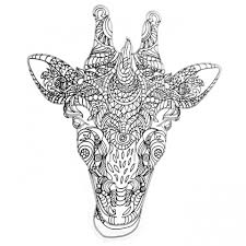 get this giraffe coloring pages for adults zentangle art 99371