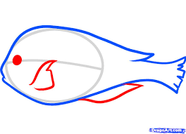 how to draw a blue tang step by step fish animals free online
