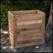 rectangle planter box reclaimed wood planters planters unlimited